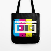 CMYK Mix tape called life Tote Bag
