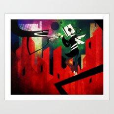The Lit Cube Art Print