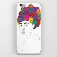 Fashion Illustration 3  iPhone & iPod Skin
