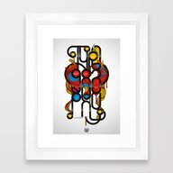 Love Typography Framed Art Print
