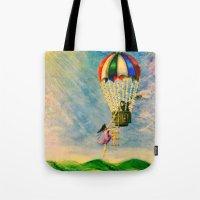BALLOON LOVE: Flying Awa… Tote Bag