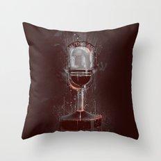DARK MICROPHONE Throw Pillow