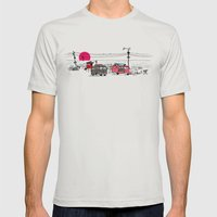 Pink Sky Mens Fitted Tee Silver SMALL