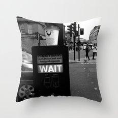 Pedestrians Wait Throw Pillow