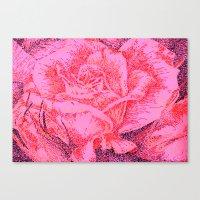 Rose Print Ridge Canvas Print