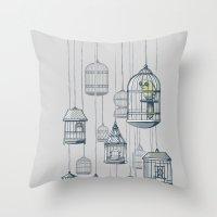 Last Bird In The Shop Throw Pillow