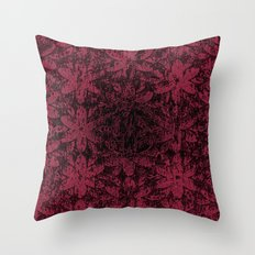 Pink Halftone Flowers Throw Pillow