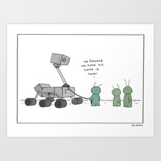Martian's Best Friend  Art Print