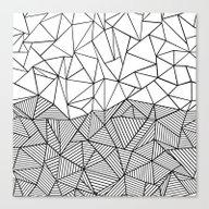 Ab Half N Half Canvas Print
