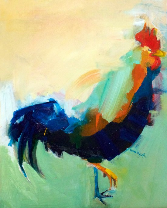 """""""Deep Rooster"""" Canvas Print"""