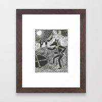 Coyote Dancer  Framed Art Print