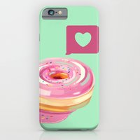 iPhone & iPod Case featuring Pink Heart Frosted Donut by Chelsea Noel Dostert