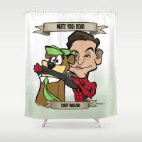 Mute Yogi Bear (Tobey Maguire) Shower Curtain