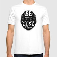 Inspire Yo Self  Mens Fitted Tee White SMALL