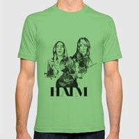 Haim the band Mens Fitted Tee Grass SMALL