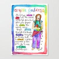 Artist Goddess Canvas Print