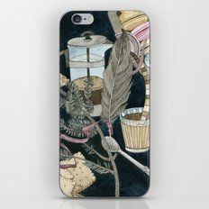 Still life with coffee, macarons, pine and feather iPhone & iPod Skin