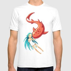 Red Whale Mens Fitted Tee White SMALL