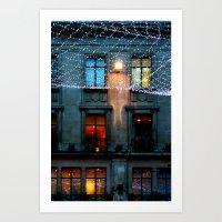 London: Street Lights Du… Art Print