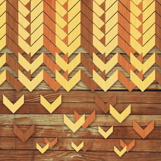 ZigZag Woody Art Print