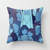 The Two Towers Throw Pillow