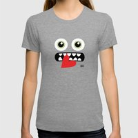 EYE EAT Womens Fitted Tee Tri-Grey SMALL