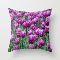Purple Spring Throw Pillow