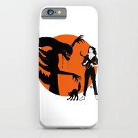 iPhone & iPod Case featuring Alien Cartoon Style - Orange by Alain Bossuyt