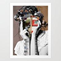 Crazy Woman - LisaLaraMi… Art Print
