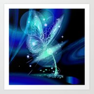 Art Print featuring Galactic Butterfly by Veronica  Kokoreva