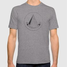 C.R.E.A.M. Mens Fitted Tee Athletic Grey SMALL