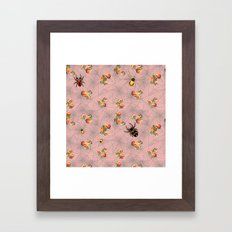 Spiders, webs, and roses Framed Art Print