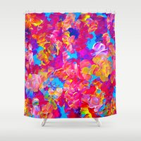 FLORAL FANTASY Bold Abst… Shower Curtain