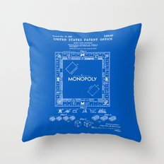 Monopoly Patent - Blueprint Throw Pillow