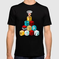 Q*BISM SMALL Mens Fitted Tee Black