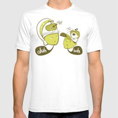 Pea Brain Patty and Bird Brain Bimmy Mens Fitted Tee White SMALL