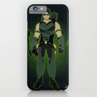 iPhone & iPod Case featuring Green Arrow by The Vector Studio