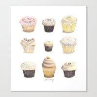 9 Cupcakes Canvas Print