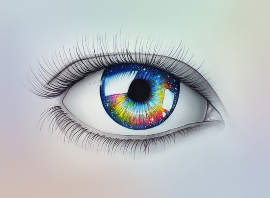 """""""Universe in your Eyes"""" Art Print"""