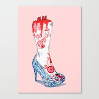 Grimm Cinderella Canvas Print