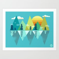 the Clarion Lake Art Print