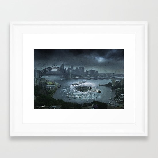 The Big Swallow Framed Art Print