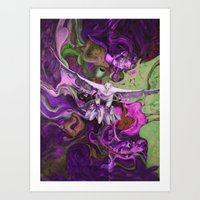 Freedom Purple Art Print