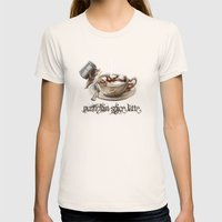 Pumpkin Spice Latte Womens Fitted Tee Natural SMALL