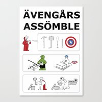 Superheroes Assembling -… Canvas Print