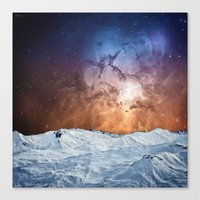 Cosmic Winter Landscape Canvas Print