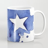 Stars Abstract Blue Wate… Mug