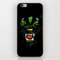 Fierce And Powerful Blac… iPhone & iPod Skin