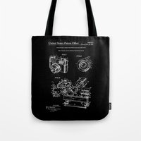 Camera Patent 1963 - Black Tote Bag