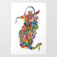 Slithering Art Print